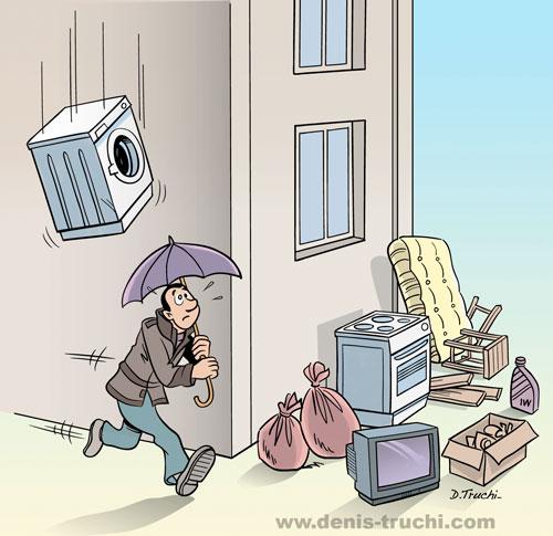 """Campagne de communication pour les gardiens d'immeubles : """"détritus"""""""