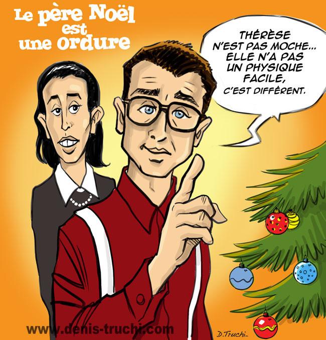 """Illustration réalisée pour """"Les meilleures répliques du cinéma"""" (First Editions) Le père noel est une ordure"""