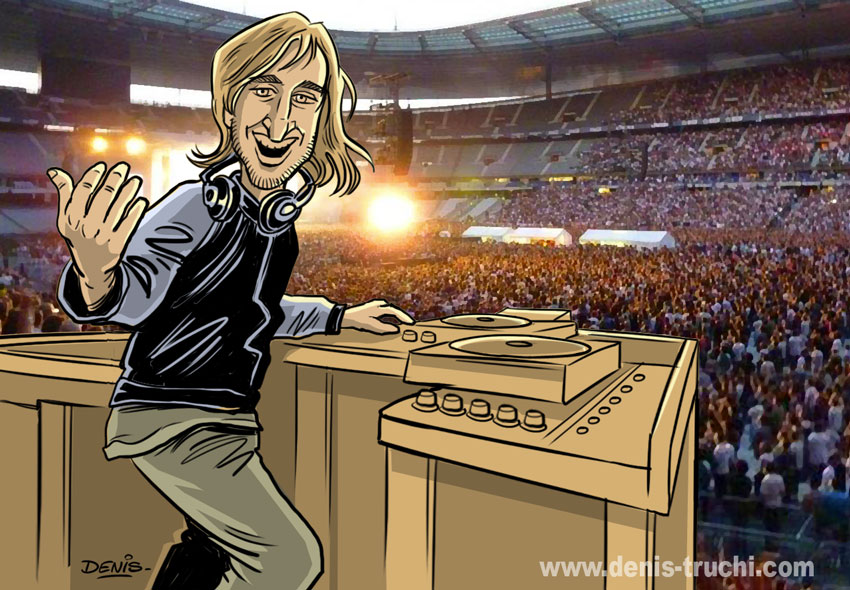Caricature de David Guetta
