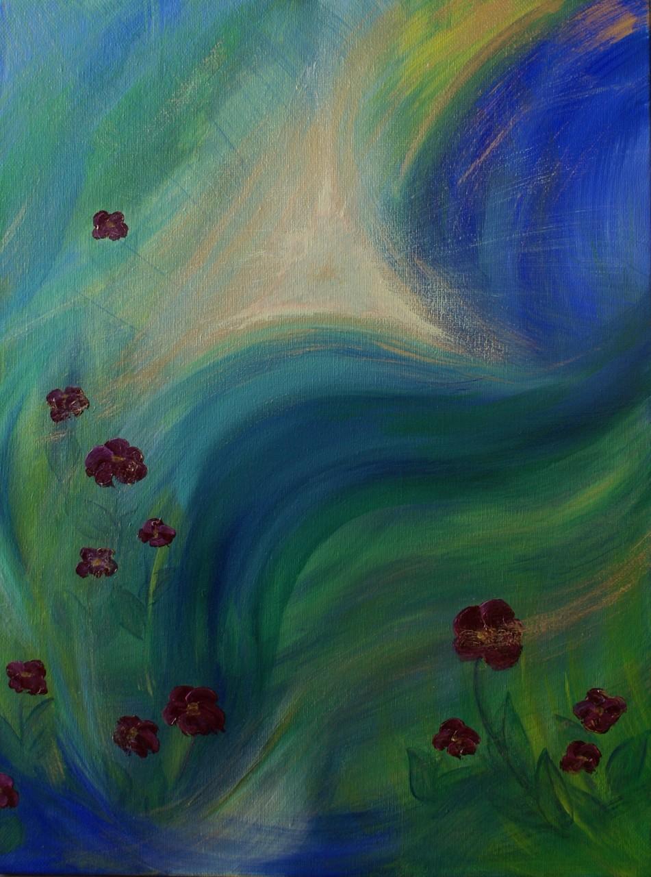 Atem des Lebens - 60 x 80 - Acryl auf Leinwand