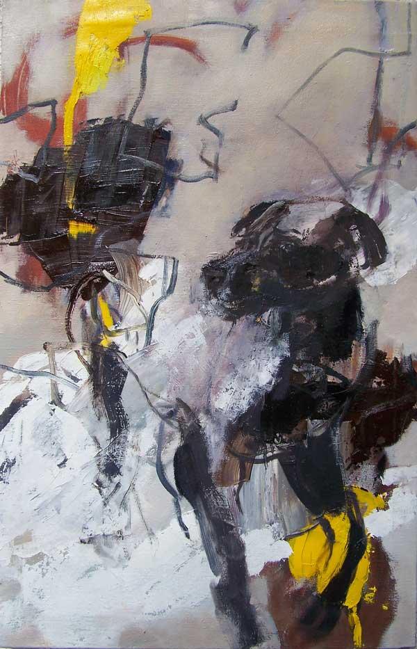 Dark Dog, Oil on canvas, 75 x 48cm, 2015