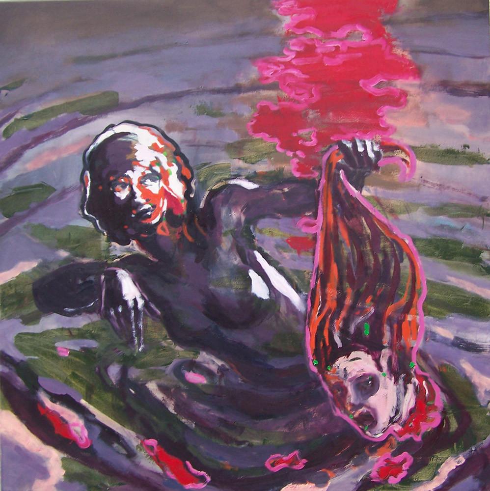 Kopf oder Zahl, Oil on canvas, 100 x 100 cm, 2009