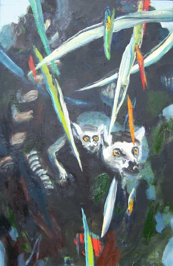 Kattas, Oil on canvas. 90 x 60cm, 2016