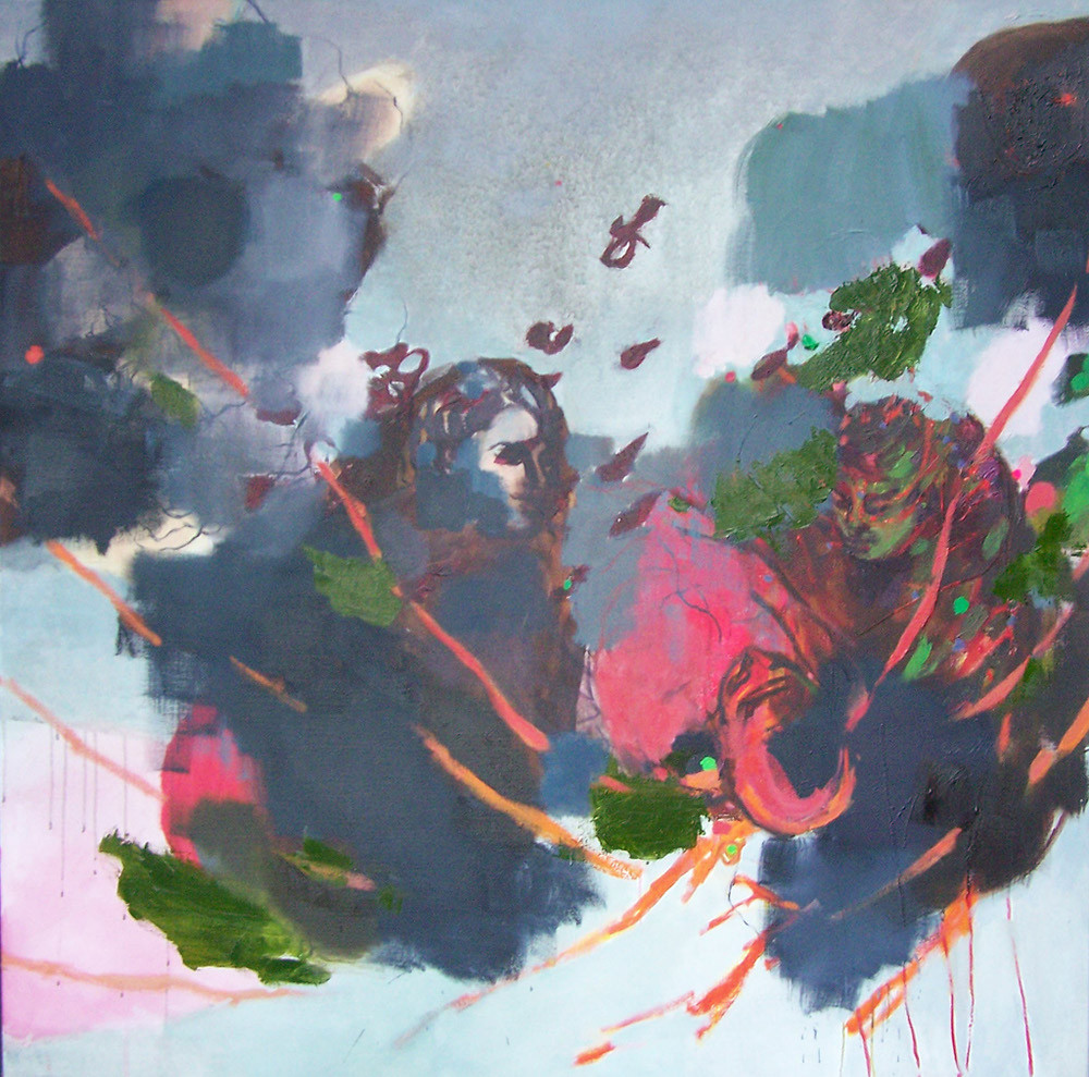Am Styx, Oil on canvas, 145 x 145 cm, 2009