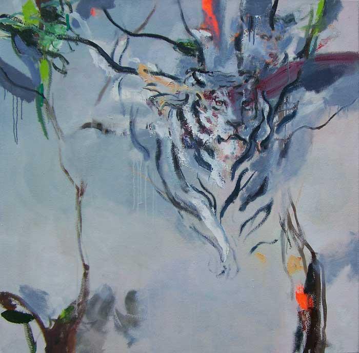 Tigress, Oil on canvas, 120 x 120cm, 2017
