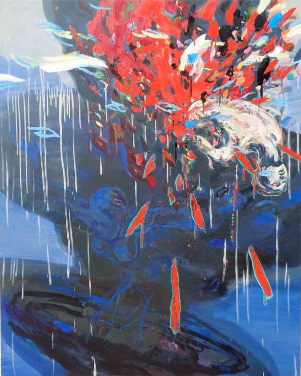 Jump, Oil on canvas, 180x150 cm, 2016