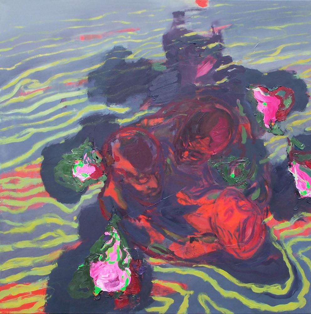 Schlieren, Oil on canvas, 100 x 100 cm, 2009
