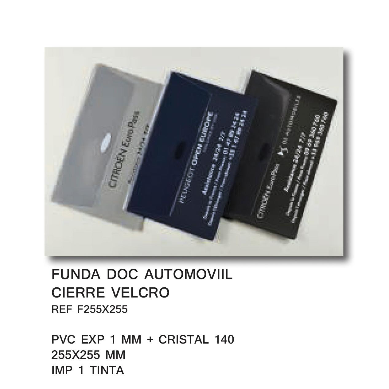 Funda Plástico publicidad AUTOMOVIL