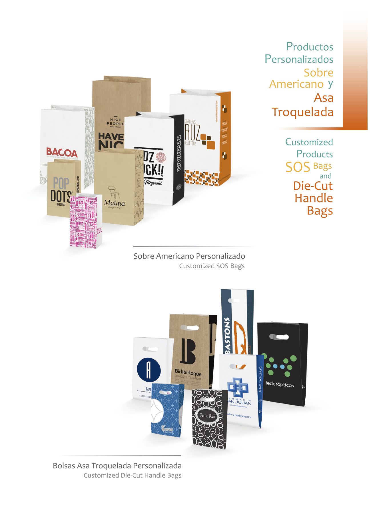Bolsas en Papel, packaging en papel.