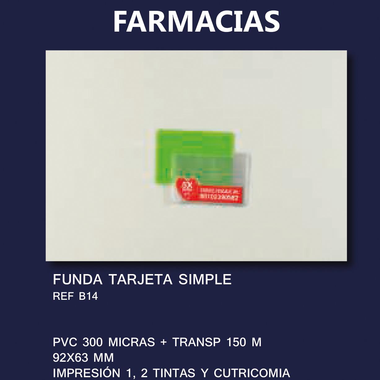 Funda PVC publicidad FARMACIAS