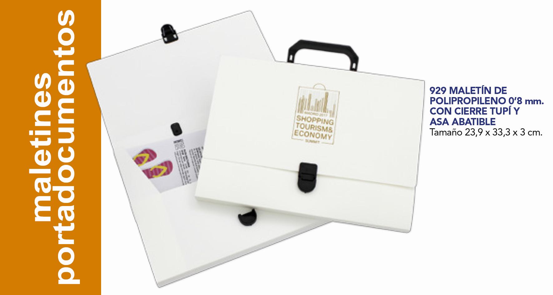 maletines  y portadocumentos, congresos, plástico,cartón