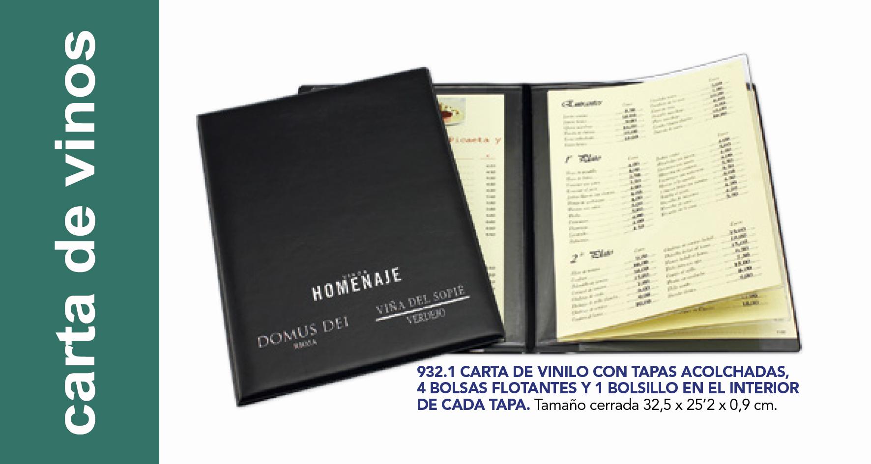 Cartas de vino y menú,  restaurante.