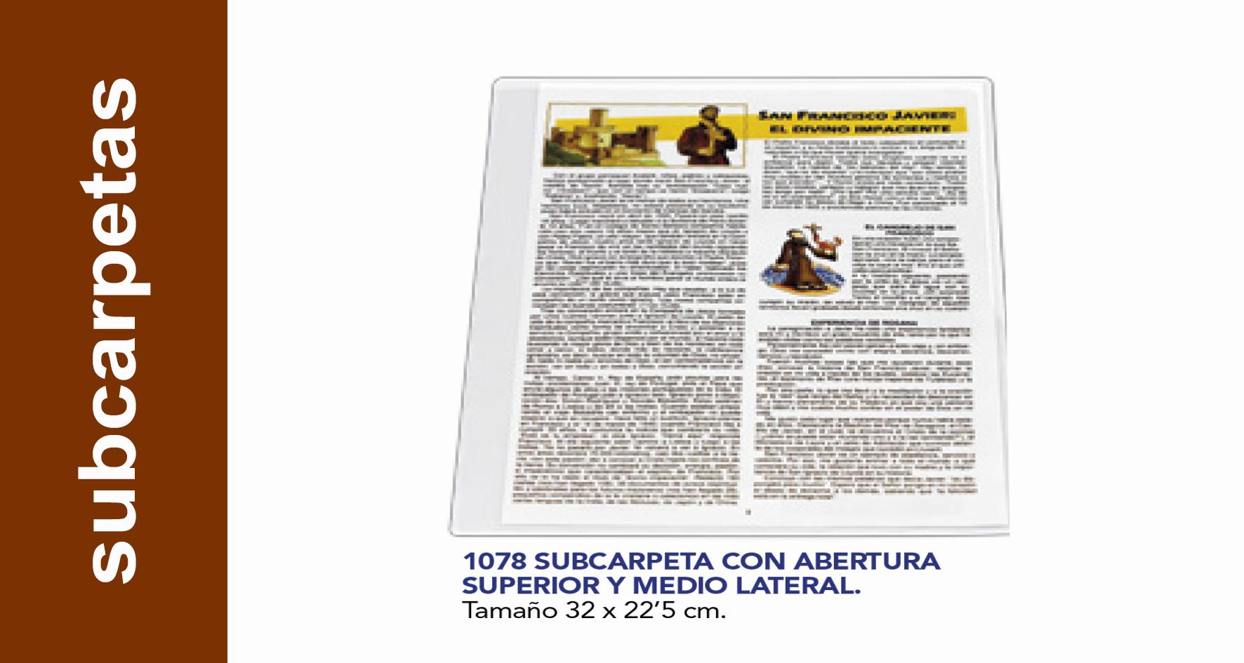 Subcarpeta publicidad polipropileno