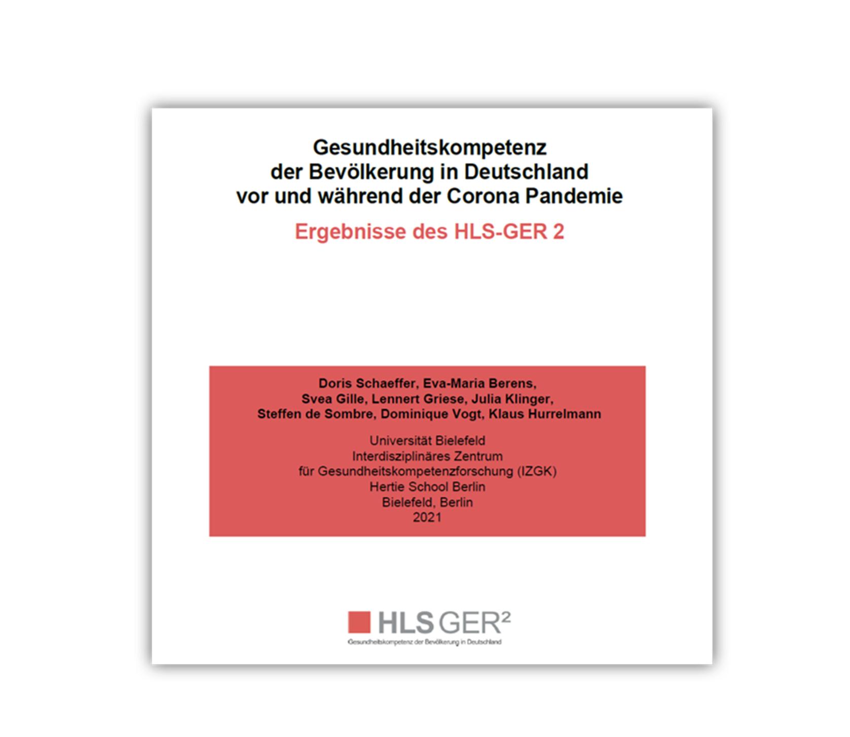 Zweiter Health Literacy Survey Germany (HLS-GER 2) veröffentlicht