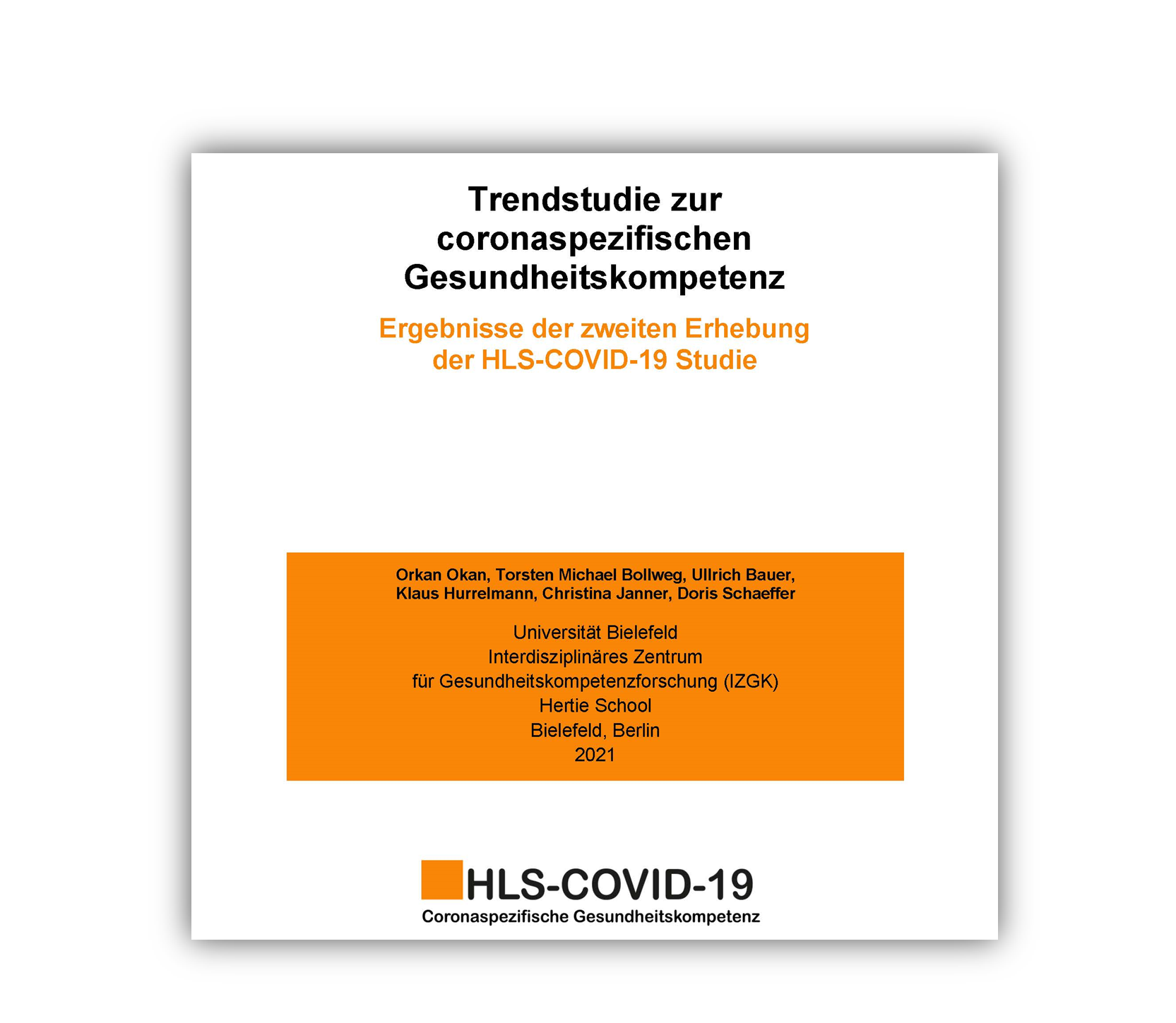 Ergebnisse der zweiten Erhebung der HLS-COVID-19 Studie