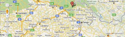 Bitte auf Karte klicken - Wegbeschreibung zu List cad cam, Kirchberg im Wald