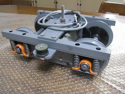動力内蔵台車(モーター+歯車減速機駆動)2軸駆動