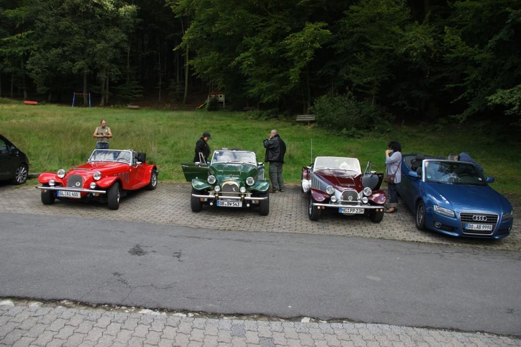 steiler Parkplatz am Hotel Heppe