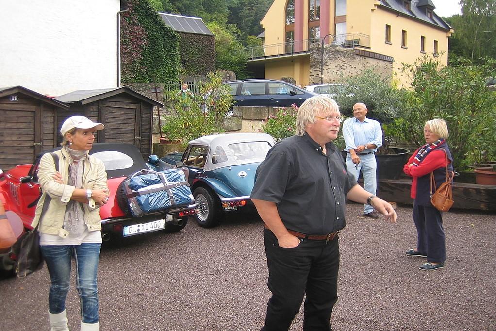 Ankunft auf Parkplatz in Cobern-Gondorf an der Mosel