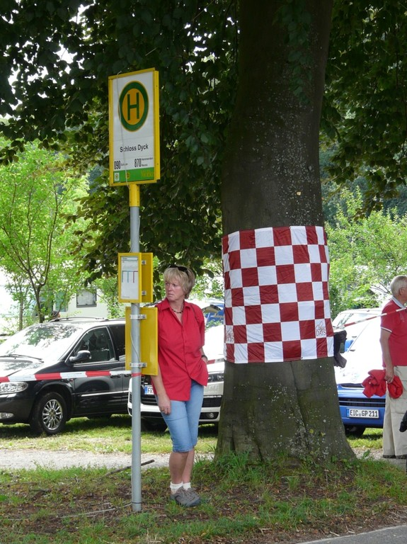 was ist gemeint Bernd: Frau-Haltestelle-Fahne um Baum oder wo wir sind?
