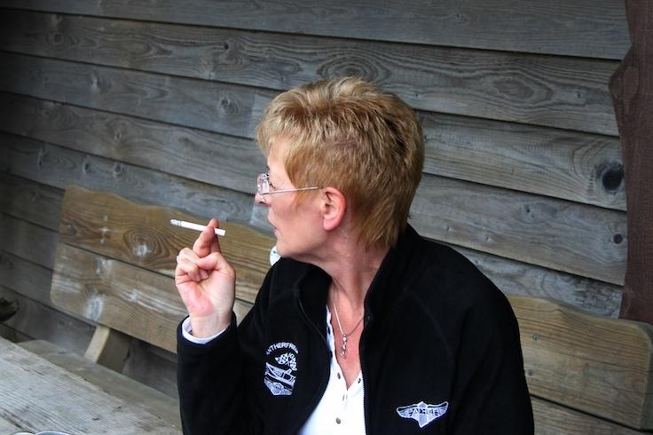 eine kleine Rauchpause hat sich Ulrike mehr als verdient!