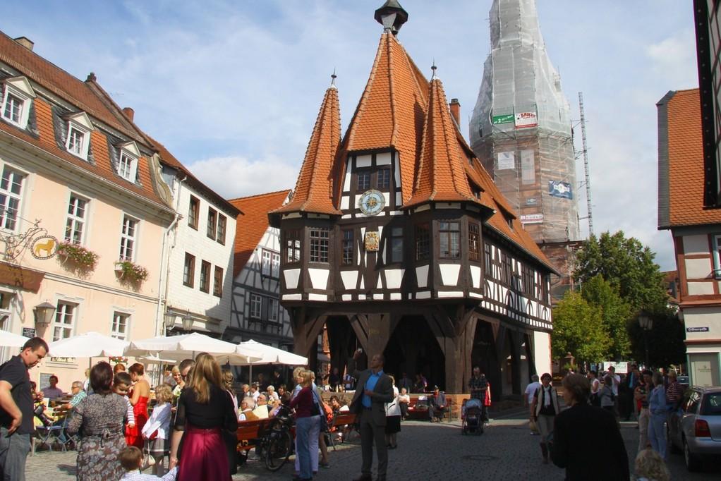 berühmter Marktplatz in Michelstadt