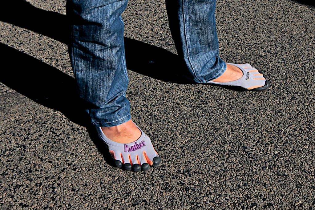 Schuhwerk demnächst Pflicht für alle Panthereigner!Wahnsinns Grip auf Gaspedal & Bremse!!!!