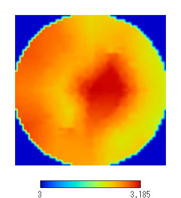 スピンコートによる膜厚分布