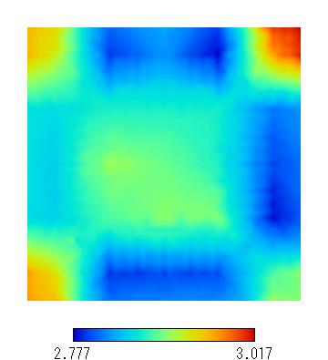 スピンコーティング膜厚分布