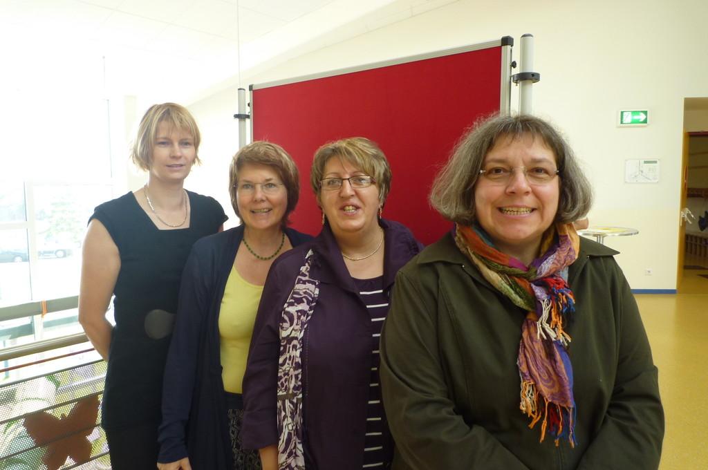 Frau Westerbur, Frau Petersen-Nast, Frau Mika-Haertel und Frau Schoon