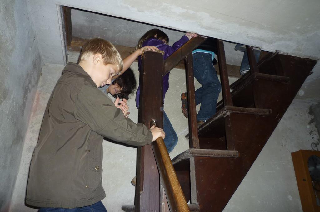 Hoch in den Glockenstuhl