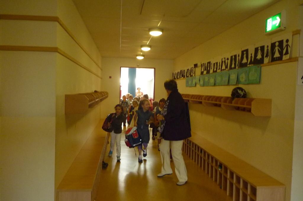 Auf dem Weg in die Klasse