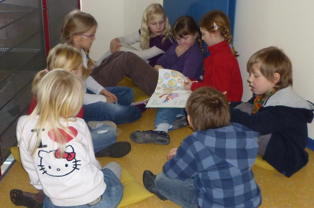In einer Vorlesegruppe