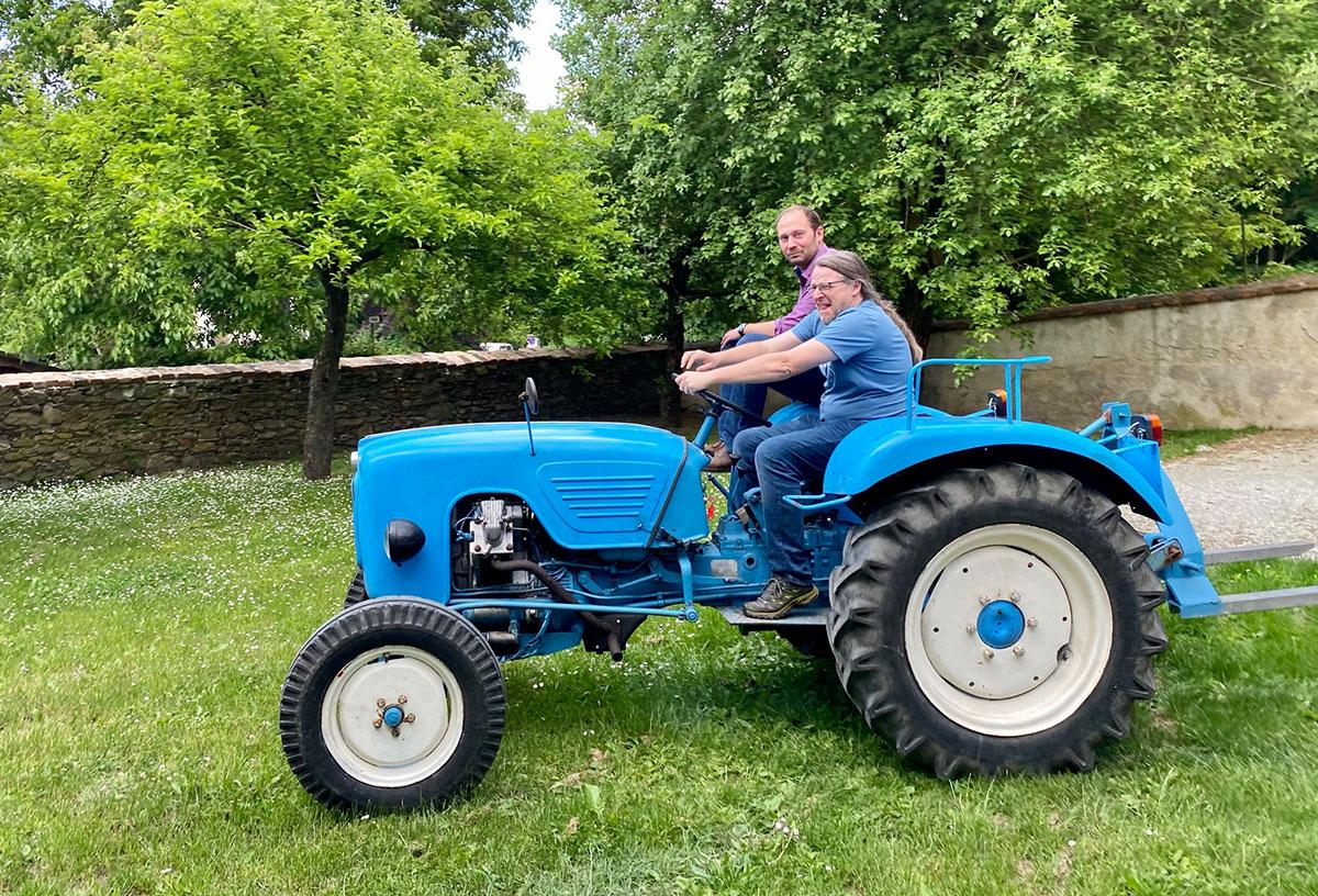 Museumsstammtisch und Traktor-Vorstellung