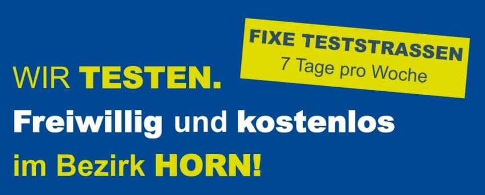 Freiwillige, kostenlose Testmöglichkeiten in Horn und im Waldviertel