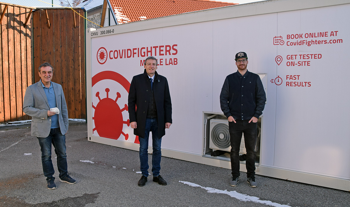 Neue Corona-Teststation der COVID Fighters in Horn
