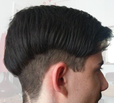 """Coupe """"branché"""" adolescent, dessin au rasoir par Véronique Ruelle coiffeuse à domicile sur Paris 12eme"""