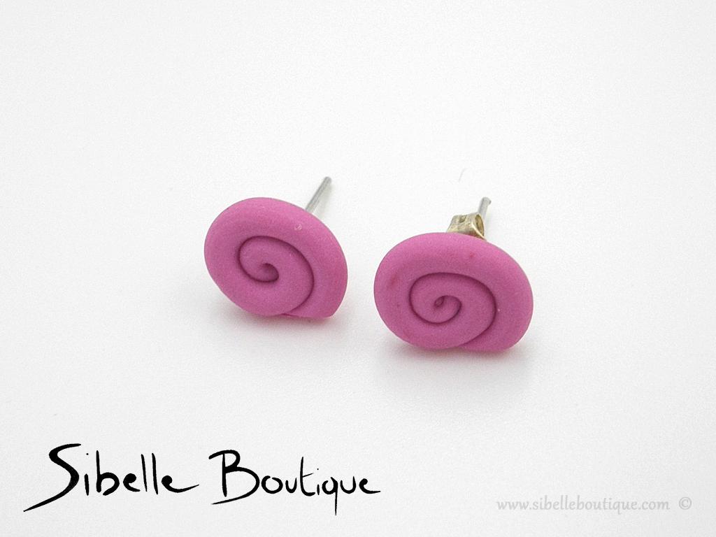 Puces d'oreilles sucette (8 couleurs)