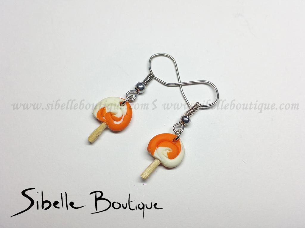 Boucles d'oreilles mini sucette (10 couleurs)
