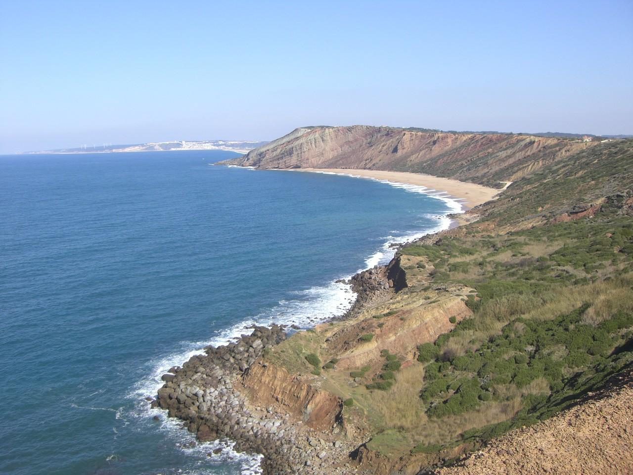 Praia del Gralha nahe Sao Martinho do Porto an der Costa de Prata .