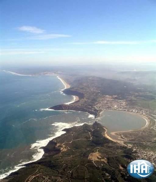 Luftaufnahme Sao Martinho, Atlantik, Küste, Portugal.