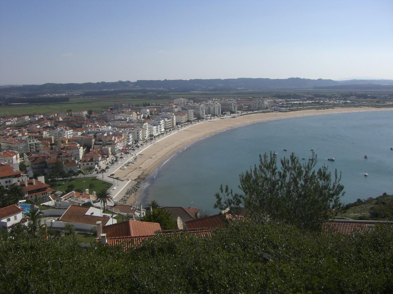 Der Strand von Sao Martinho do Porto, Ferienwohnung in Portugal mieten.