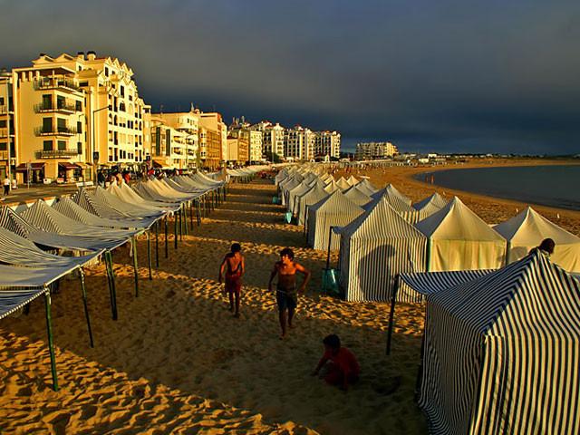 Atlantikküste, die Bucht von Sao Martinho do Porto.