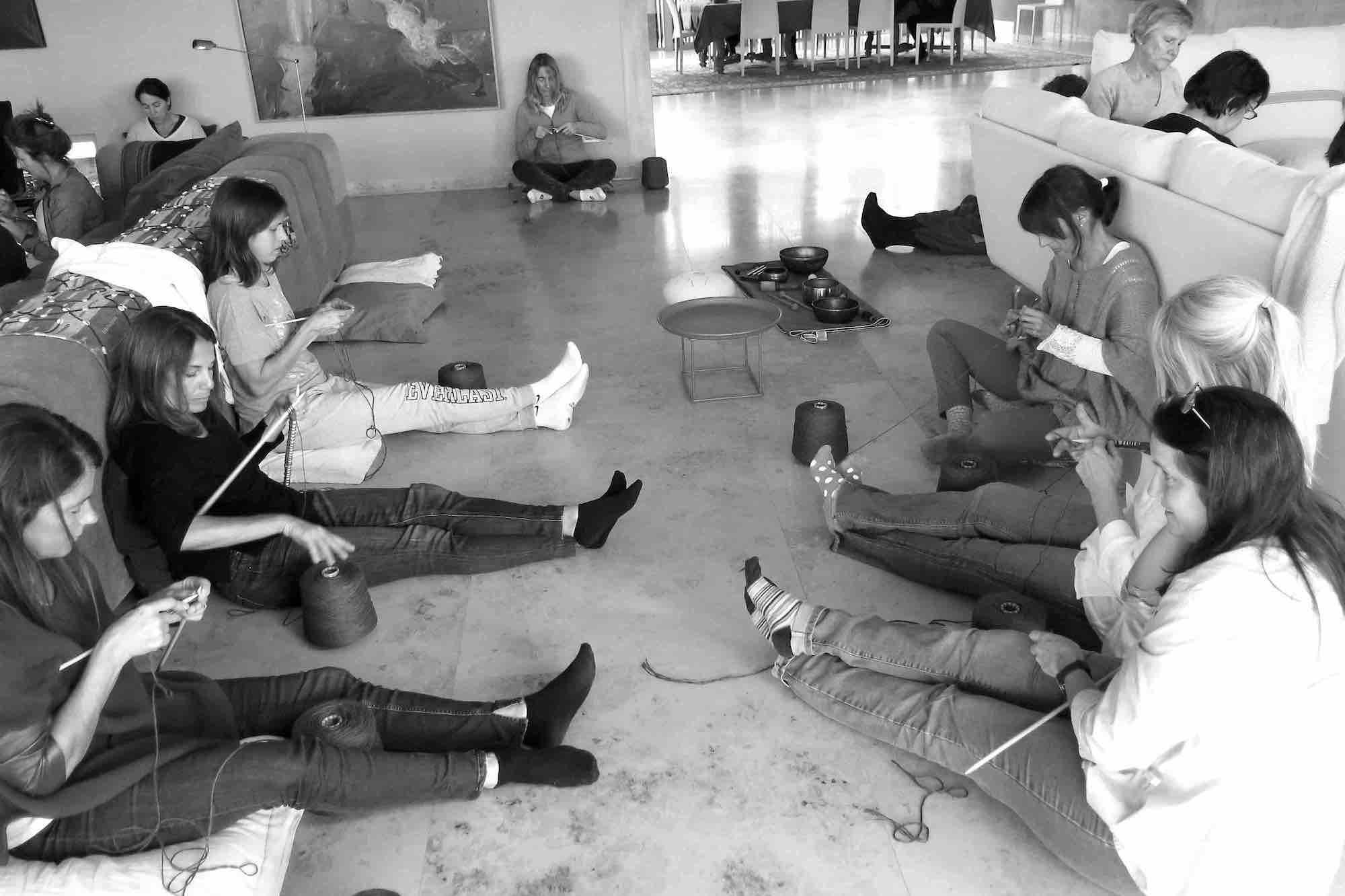 Tejedoras del grupo de Beccar, Argentina