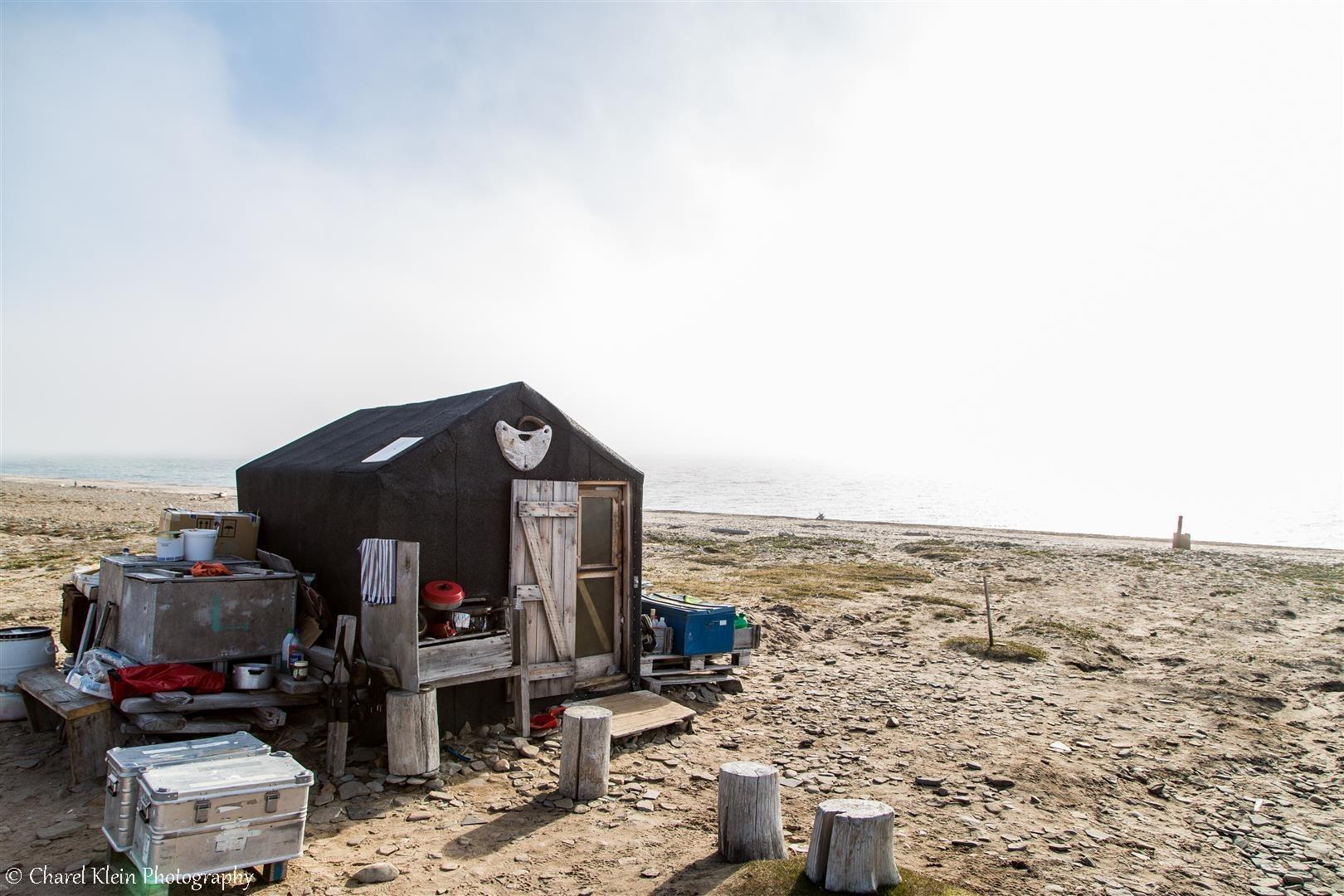 Old trapper hut