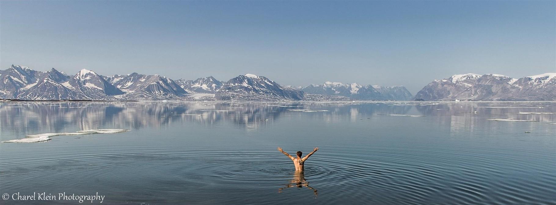 Shower in th eKong Oscar Fjord