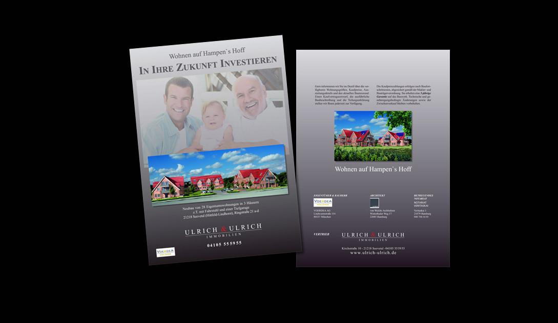 Faltblatt DIN-A4 (Vorderseite + Rückseite) für ein Projekt der Firma Ulrich & Ulrich