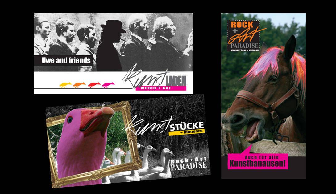 Uwe Brügmann, Rock+Art Paradise (Logo, Einladungskarten..), Layout