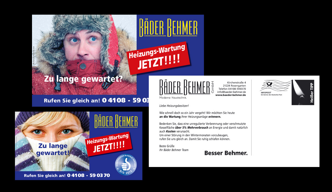 Bäder Behmer Maxikarte, Dialogpost