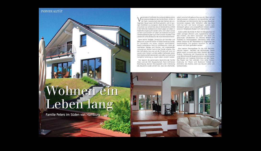 """Bericht über ein Architektenhaus der Firma Wittbau (""""Die Haus und Garten WELT"""")"""